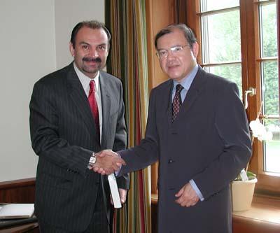 se reunió con el Sr. Marcio Cuevas, Ministro de Economía de Guatemala.