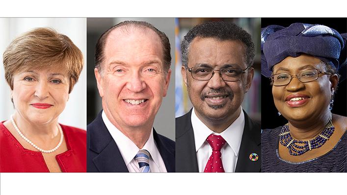 OMC | Noticias 2021 - Nueva hoja de ruta de 50.000 millones de dólares en las esferas de la salud, el comercio y las finanzas para poner fin a la pandemia y